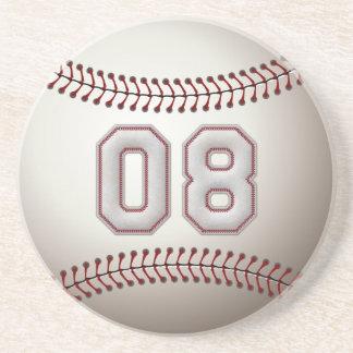 Jogador número 08 - pontos legal do basebol porta copos de arenito