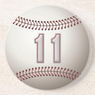 Jogador número 11 - pontos legal do basebol porta copos de arenito