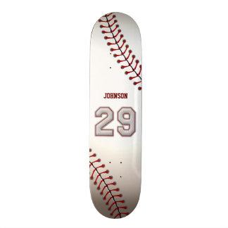Jogador número 29 - pontos legal do basebol shape de skate 18,1cm
