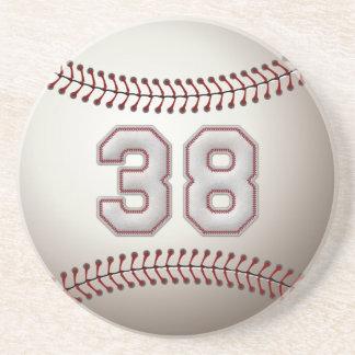 Jogador número 38 - pontos legal do basebol porta copos de arenito