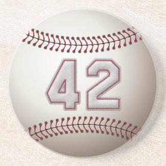 Jogador número 42 - pontos legal do basebol porta copos de arenito