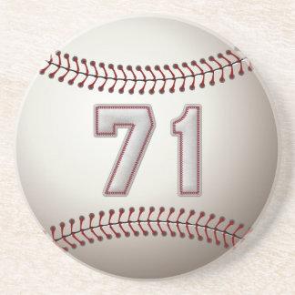 Jogador número 71 - pontos legal do basebol porta copos de arenito