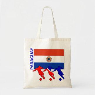 Jogadores de futebol - Paraguai Sacola Tote Budget