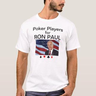 Jogadores de póquer para Ron Paul Camiseta
