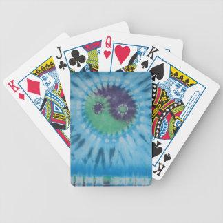 Jogo azul roxo verde da bicicleta da tintura do la cartas de baralhos