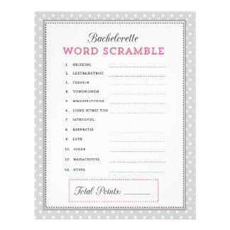 Jogo cinzento & cor-de-rosa da precipitação da pal panfleto personalizado