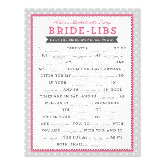 Jogo cinzento & cor-de-rosa dos liberais da noiva flyer 21.59 x 27.94cm