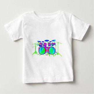 Jogo colorido do cilindro t-shirt