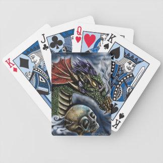 Jogo com os cartões do dragão baralhos de poker