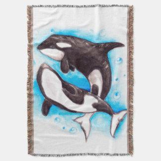 jogo da orca throw blanket