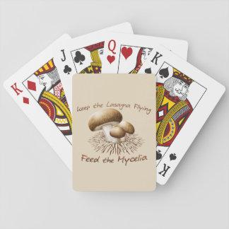 Jogo De Baralho Alimente os cartões de jogo dos Mycelia