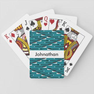 Jogo De Baralho Cartões conhecidos dos remos do enfileiramento