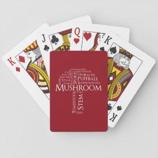 Jogo De Baralho Cartões de jogo clássicos do cogumelo da palavra