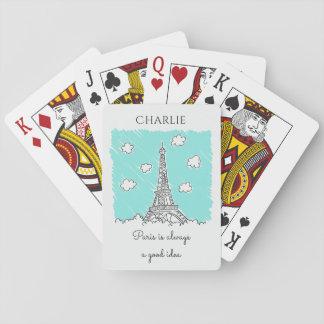 Jogo De Baralho Cartões de jogo feitos sob encomenda do texto da
