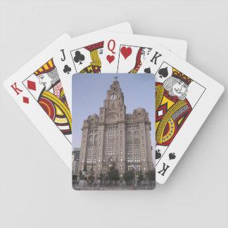 Jogo De Baralho Cartões de jogo que caracterizam a construção do