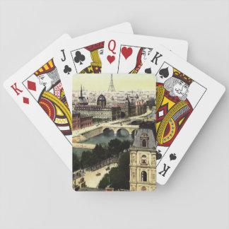 Jogo De Baralho Cena da torre Eiffel de Paris do vintage