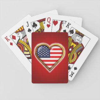 Jogo De Baralho Coração americano