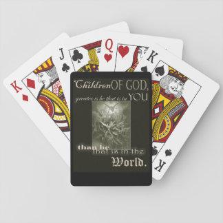Jogo De Baralho Crianças de cartões do deus