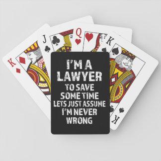 Jogo De Baralho Eu sou um advogado - plataforma do provérbio de