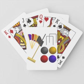 Jogo De Baralho Jogo de cartões de jogo do Croquet