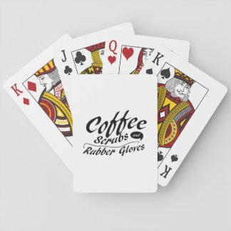 Jogo De Baralho O café esfregam e a enfermeira engraçada das luvas