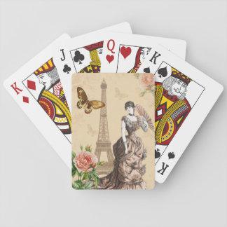 Jogo De Carta Cartões de jogo elegantes da forma francesa do