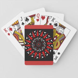 Jogo De Carta Cartões de jogo espirais cravados vermelhos pretos