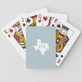 Jogo De Carta Cartões de jogo feitos sob encomenda das iniciais