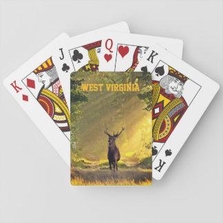 Jogo De Carta Cervos do fanfarrão de West Virginia