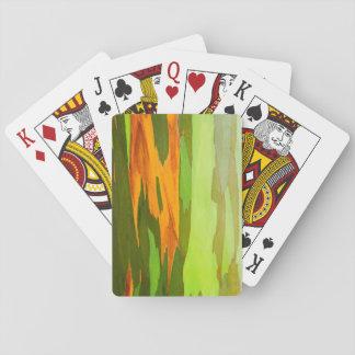Jogo De Carta Latido do eucalipto do arco-íris, Havaí