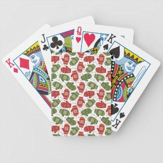 Jogo De Carta Luvas e flocos de neve verdes vermelhos do Natal