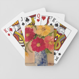 Jogo De Carta Plataforma floral de cartões de jogo
