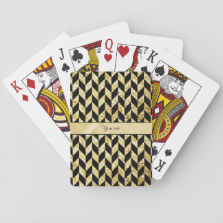 Jogo De Carta Vigas elegantes elegantes do ouro