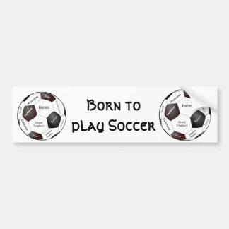 Jogo de futebol inspirador, palavras dos esportes adesivo para carro