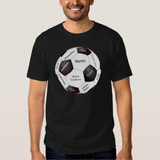 Jogo de futebol inspirador, palavras dos esportes t-shirt