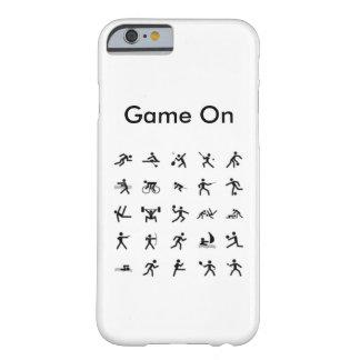 Jogo de IPhone 6s no caso dos esportes Capa Barely There Para iPhone 6