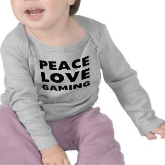 Jogo do amor da paz camiseta