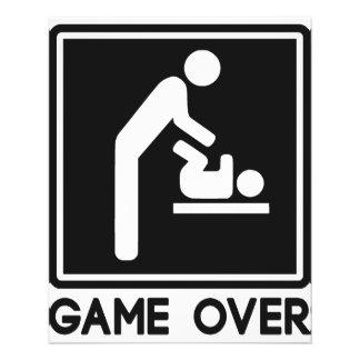 Jogo sobre o bebê novo para o pai do pai flyer 11.43 x 14.22cm