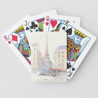 Jogos De Baralho Aguarela da torre Eiffel | Paris