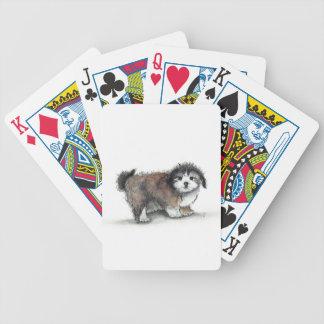 Jogos De Baralho Cão de filhote de cachorro de Shihtzu, animal de