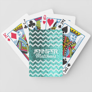 Jogos De Baralho Cartões de jogo Glittery do teste padrão de