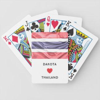 Jogos De Baralhos Costume mim bandeira do coração de Tailândia