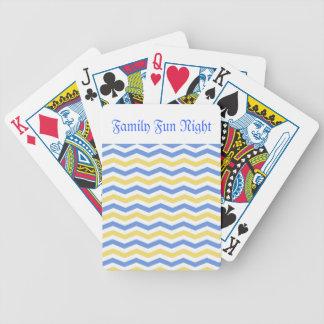 Jogos De Baralhos Viga azul e amarela moderna, na moda, elegante