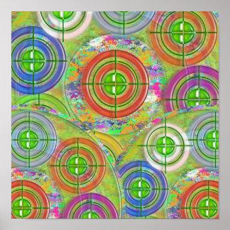 Jogos de prática do ALVO - decoração artística Poster