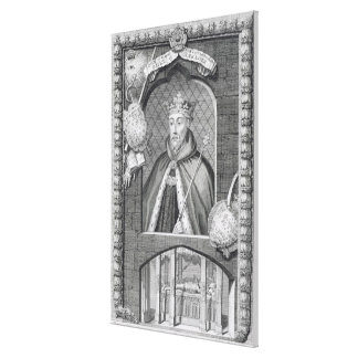 John de magriço, duque de Lancaster (1340-99) após Impressão De Canvas Envolvida