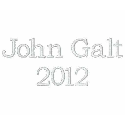 John Galt 2016 Camisa Polo Bordada