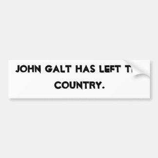 John Galt saiu do país Adesivo Para Carro