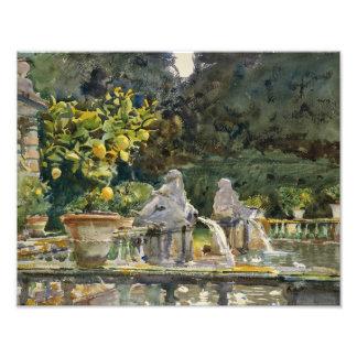 John Singer Sargent - Casa de campo di Marlia, Impressão De Foto