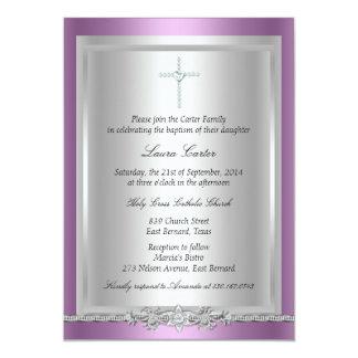 Jóia & baptismo da cruz/convite do batismo convite 12.7 x 17.78cm