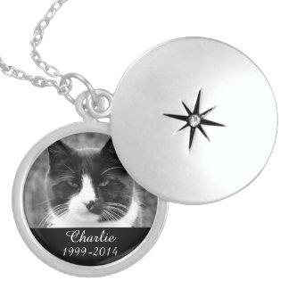 Jóia memorável da lembrança do animal de estimação colar de prata esterlina